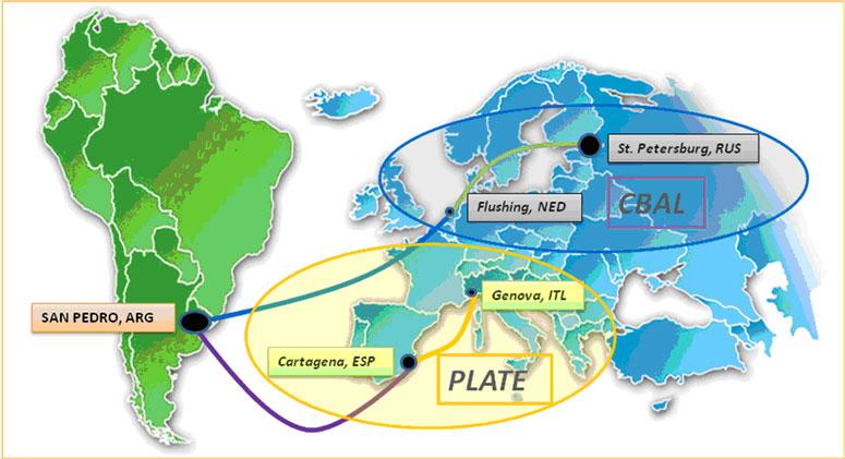 Mapa del Tráfico Reefer